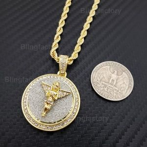 "Baby Angel Medallion & 24"" Rope Chain Necklace"